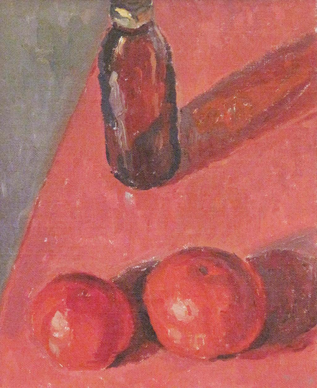 Tomaten auf Rotem Tisch