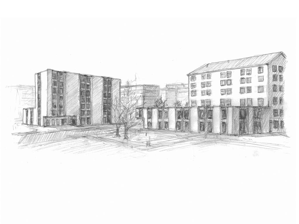 Visualisierung Aussenraum und Fassaden