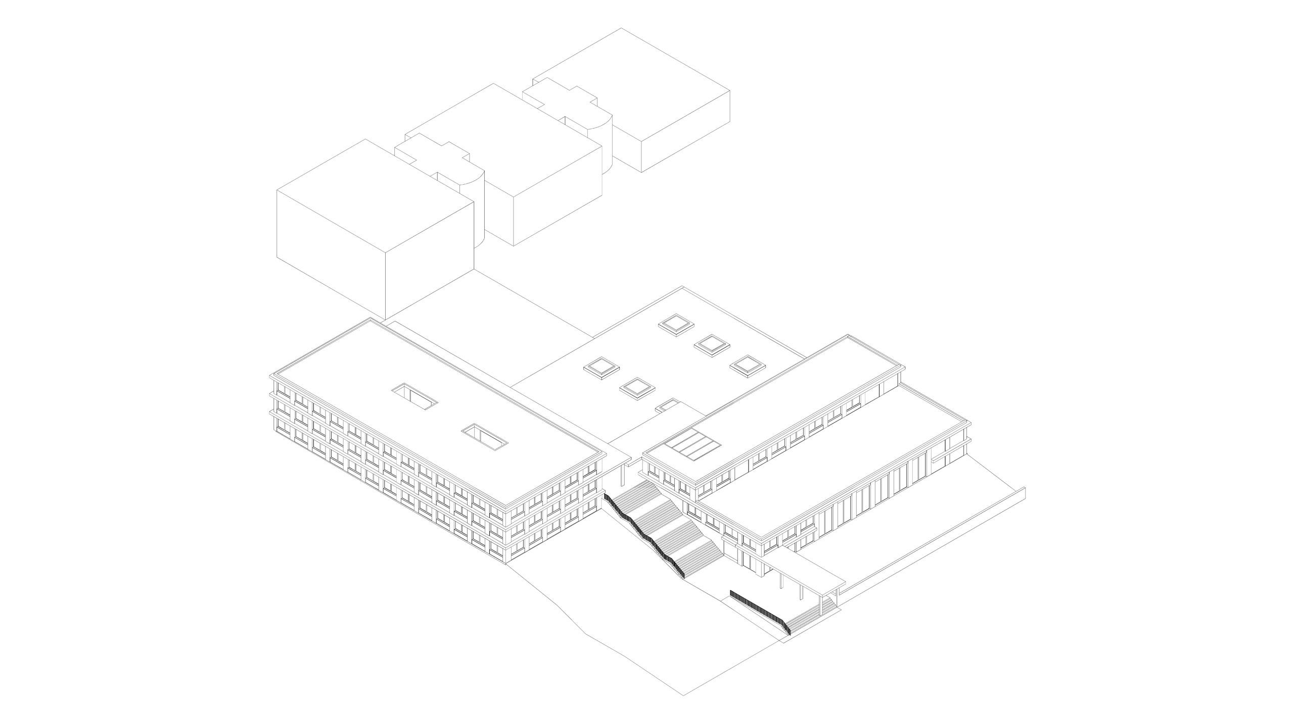 Visualisierung Schulhaus Buchs