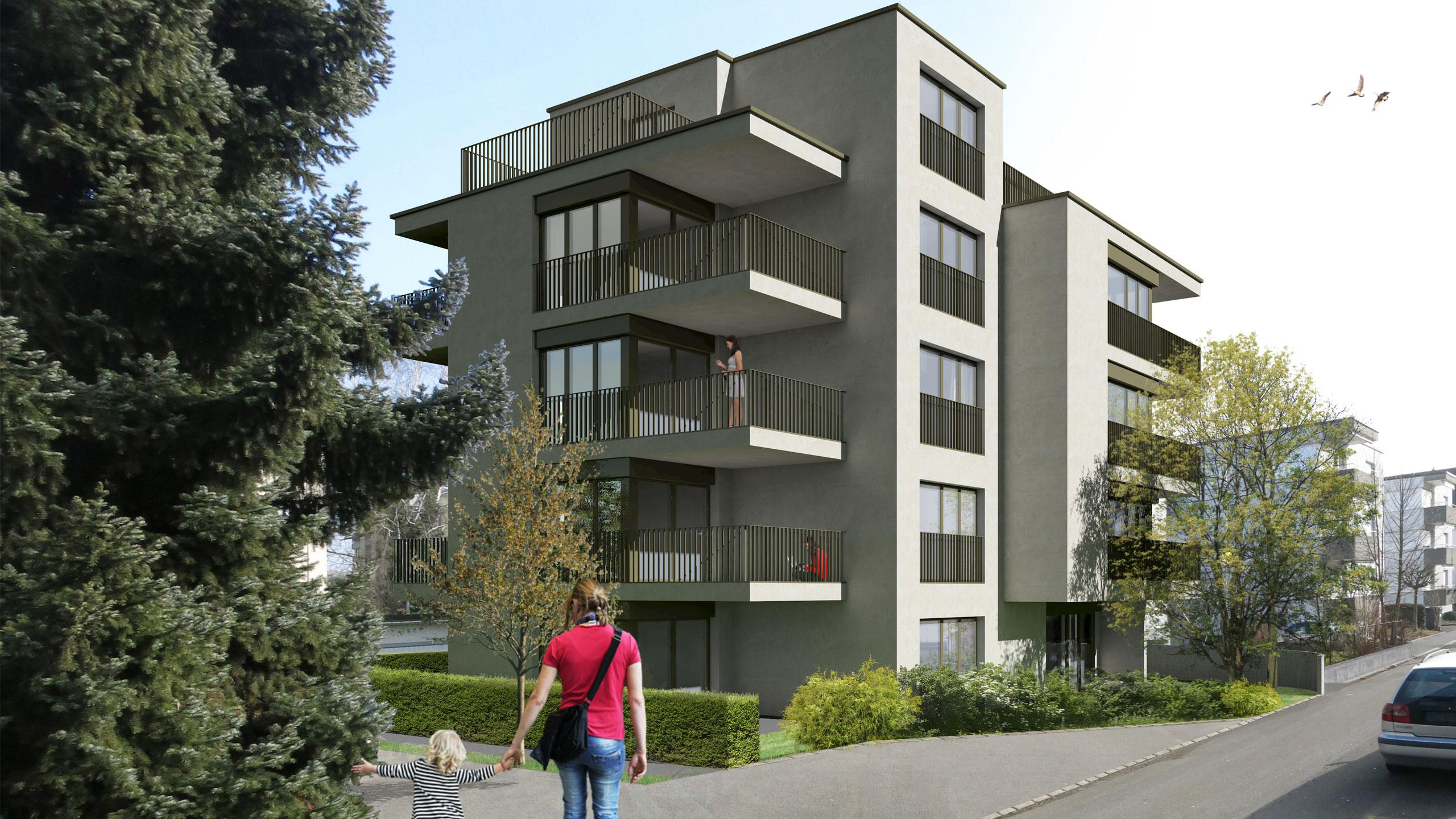 Visualisierung Wohnhaus Ettenfeldstrasse
