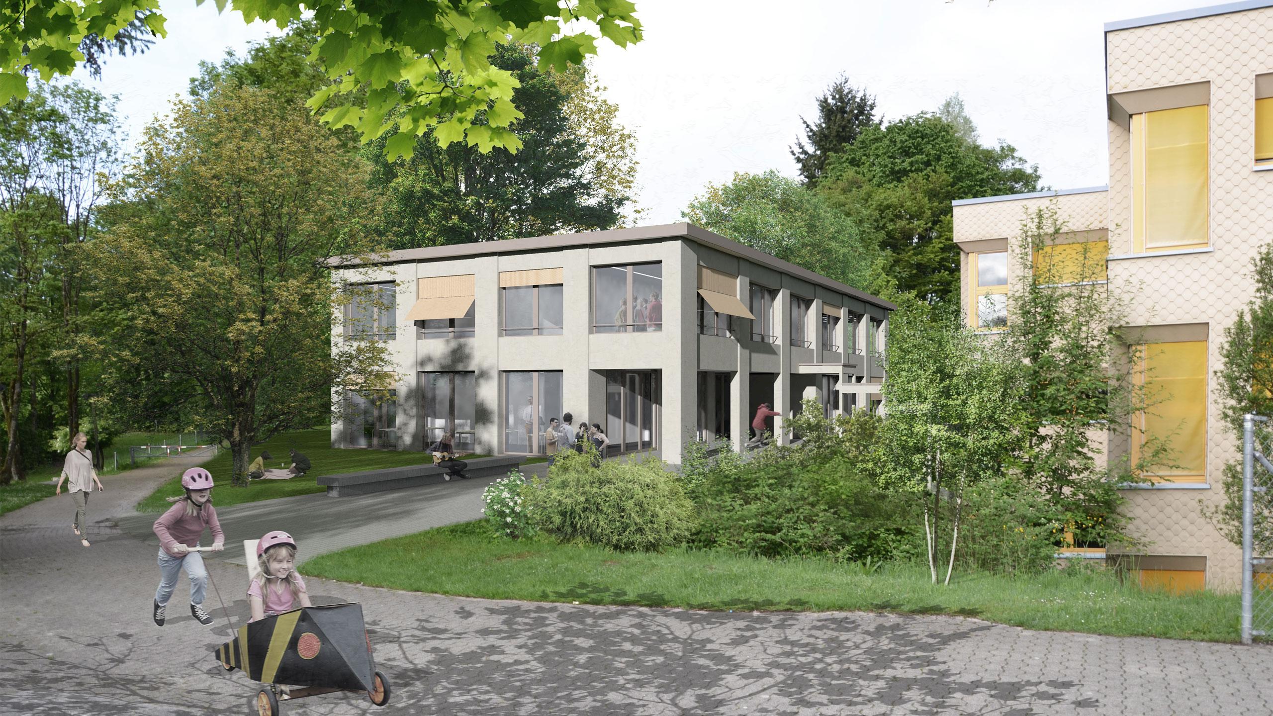 Visualisierung Schulhaus Oetwil am See