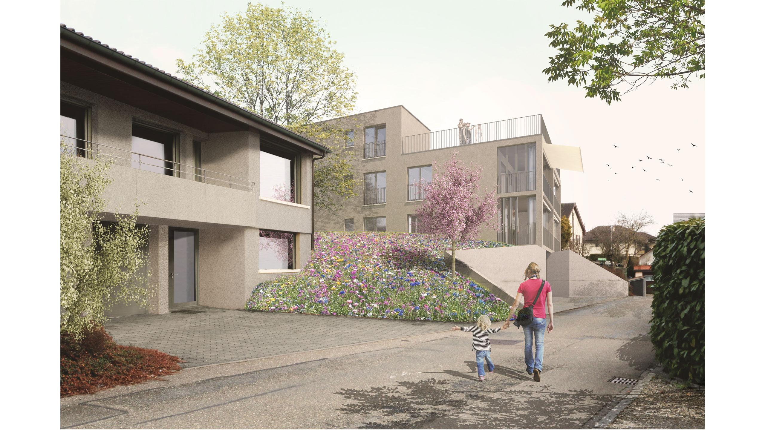 Visualisierung Mehrfamilienhaus Trottenweg